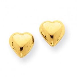 KOLCZYKI GOLDEN HEART złote