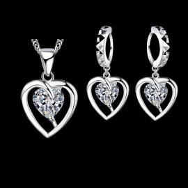 -30% KOMPLET SILVER HEART srebro