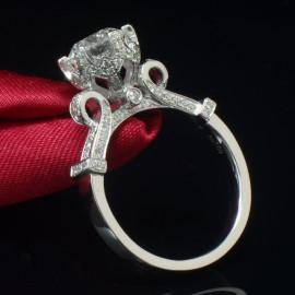 PIERŚCIONEK SR005 SREBRO kryształ 1,5 ct SWAROVSKI