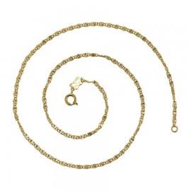 -20% ZŁOTY ozdobny ŁAŃCUSZEK ROYAL GOLD 42cm 3mm