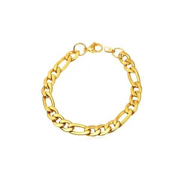 Bransoletka FIGARO GOLD PANCERKA 9mm STAL złota