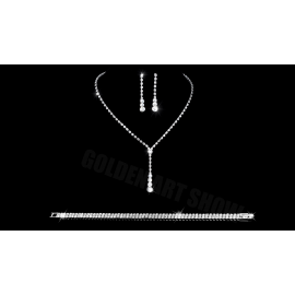 Komplet bizuterii ELENA 2 naszyjnik, kolczyki, bransoletka