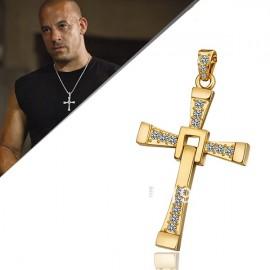 Naszyjnik KRZYŻ VIN DIESEL TORETTO białe złoto 18K