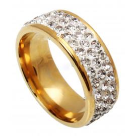 -15% OBRĄCZKA pierścionek SWAROVSKI ZŁOTA